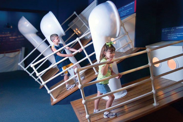 Titanic Museum Attraction interactive sloping decks