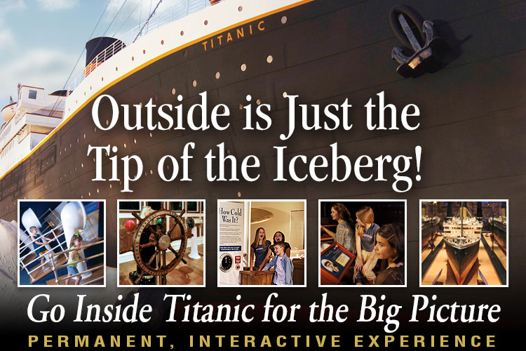 Titanic Pigeon Forge tour groups and travel professionals