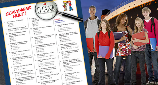 Titanic Pigeon Forge Education Guide - Scavenger Hunt