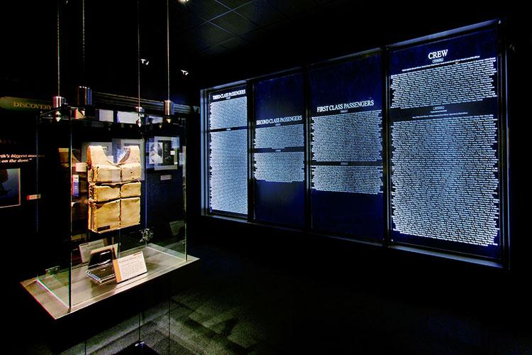 Titanic Museum Attraction memorial room