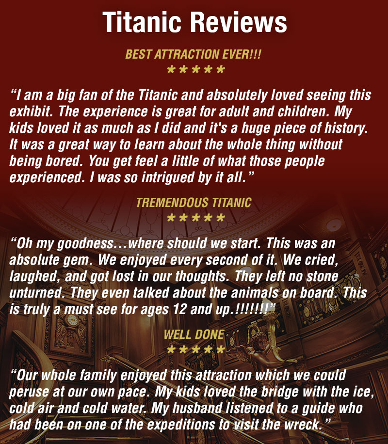 Kids Titanic Reviews
