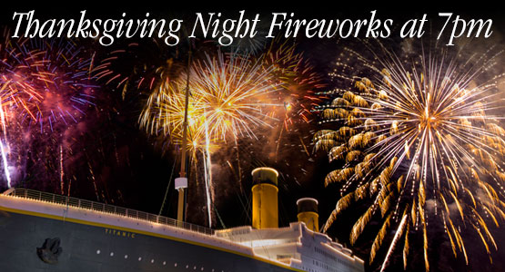 Thanksgiving Night Fireworks at 7pm.