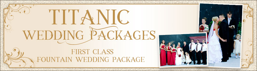 Titanic Pigeon Forge first class outdoor fountain wedding package