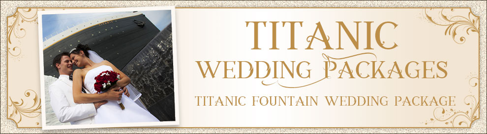Titanic Pigeon Forge Fountain Wedding Package