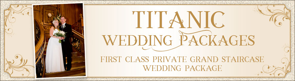 Titanic Pigeon Forge first class private Grand Staircase wedding package