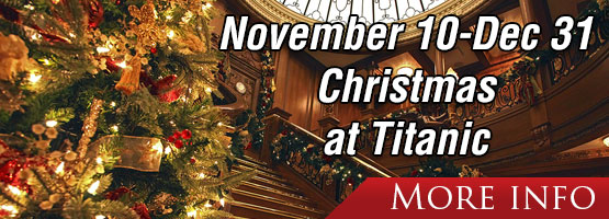 Starting Nov. 10 - Dec. 31, See our ship decorated for the Christmas Season.