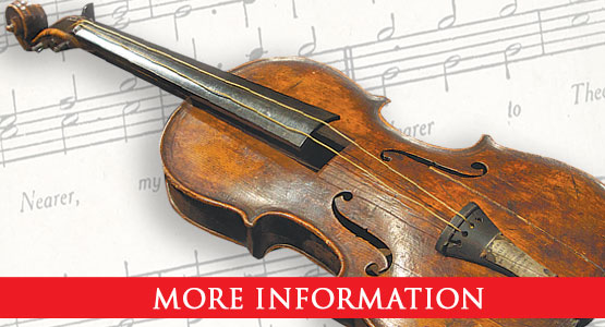 $1.7 million dollar Titanic Violin in Pigeon Forge, TN., July 1 - December, 2020.