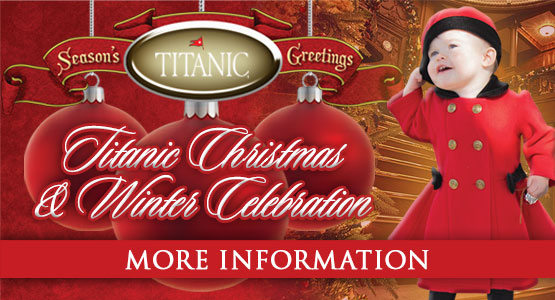 Titanic Pigeon Forge Christmas and Winter Celebration. Book your Holiday Season at Titanic!