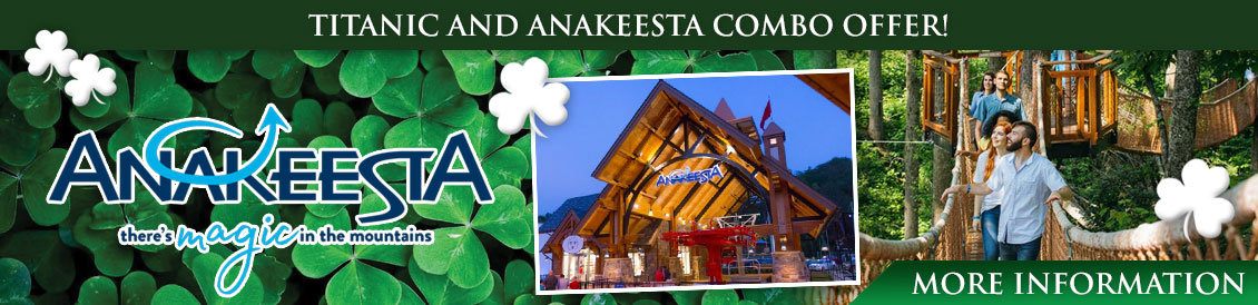 Why buy an Anakeesta and Titanic Pigeon Forge combo ticket? You never know what you'll see!