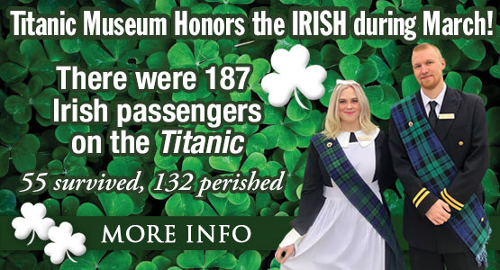 The entire Month of March is an Irish Celebration at Titanic Pigeon Forge!