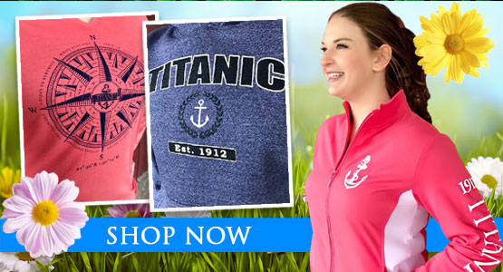 Titanic Spring Apparel. Shop now.