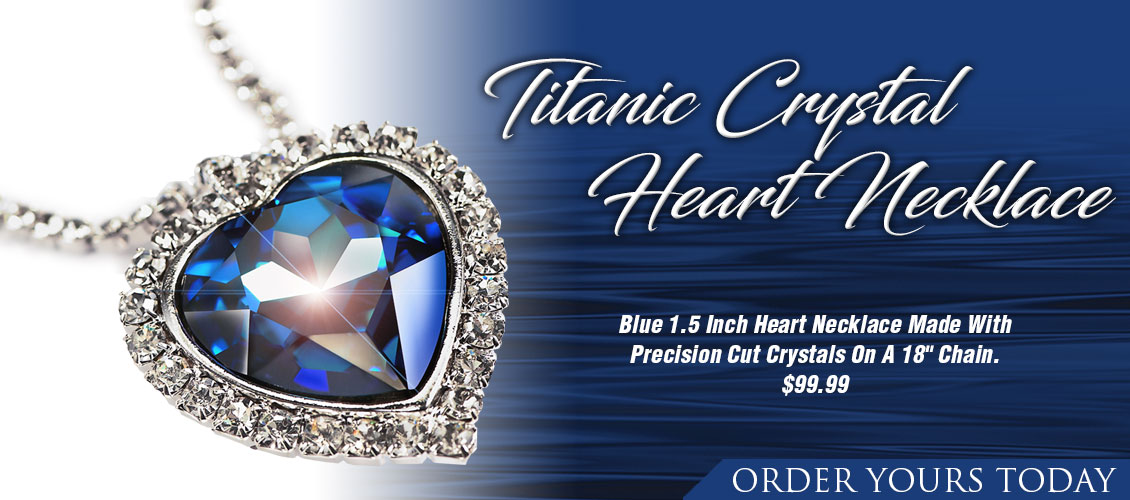 Titanic Crystal Heart Necklace. Order Yours Today.