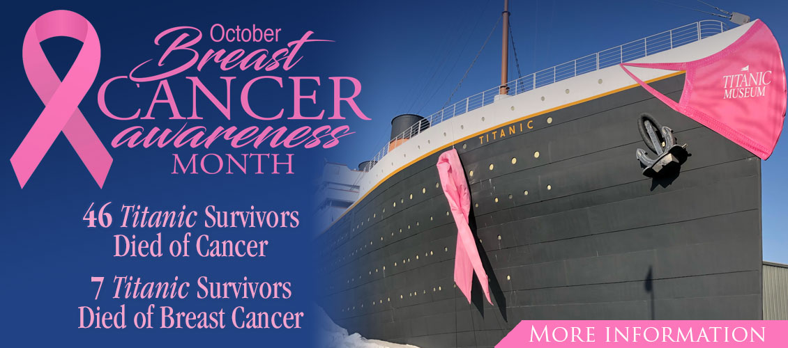 Titanic Museum Attraction Breast Cancer Awareness in October.